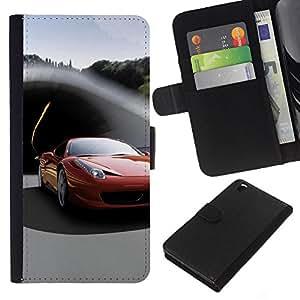 iBinBang / Flip Funda de Cuero Case Cover - Italiano supercar - HTC DESIRE 816