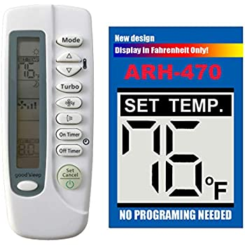 Replacement for SAMSUNG Air Conditioner Remote Control ARH-470 DB93-05083P  works for AQV09NSD AQV09NSDKCV AQV12NSD AQV18NSD AQV18NSDKCV AQV24NSD