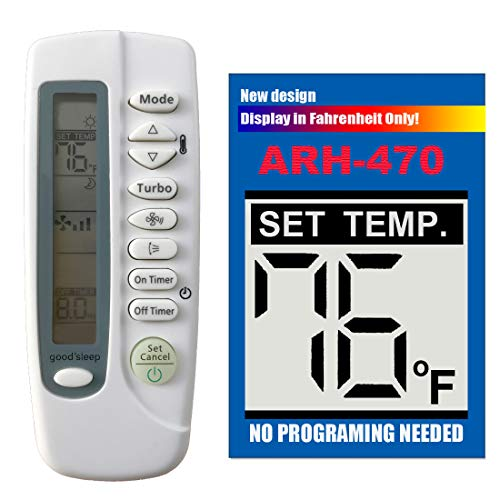 Replacement for SAMSUNG Air Conditioner Remote Control ARH-470 DB93-05083P works for AQV09NSD AQV09NSDKCV AQV12NSD AQV18NSD AQV18NSDKCV AQV24NSD AQV24NSDKCV XV6729 by Generic