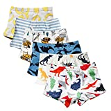 Closecret Kids Series Soft Cotton Toddler Underwear Little Boys' Assorted Boxer Briefs(Pack of 6) (Style 3, 2-3 Years)