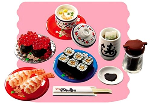 Set Meal Mini (Re-Ment Japanese Sushi Bar #6 Meal Retired 2006 Mini Miniature Food Set)