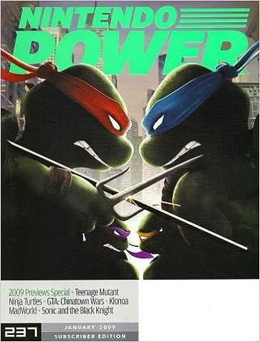 Nintendo Power ~ January 2009 ~ Teenage Mutant Ninja Turtles ...