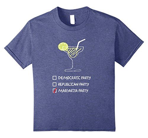 Kids Margarita Party Not Political Tequila Cocktail Lime T-Shirt 8 Heather Blue