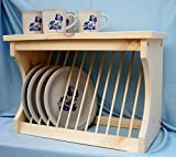 dish display wall rack - Wood Plate Rack Dish Organzier