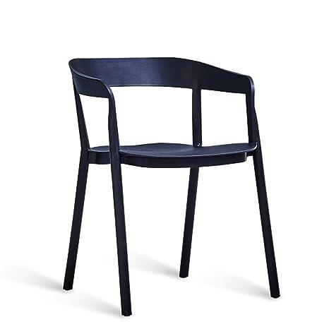 HZB Sillas Minimalistas nórdicas, sillas de Respaldo para ...