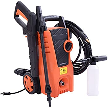 Costway 1400PSI Electric High Pressure Washer 2000W 1.6GPM Sprayer Cleaner Machine w/ Hose Reel, Soap Dispenser