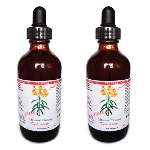 Mexican Tarragon Liquid Extract, Organic Mexican Tarragon (Tagetes Lucida) Tincture Supplement 2x2 oz