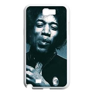 Jimi Hendrix Samsung Galaxy N2 7100 Cell Phone Case White I3623954