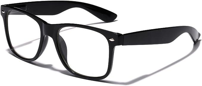Kids Nerd Girls Boys Clear Lens Non-Prescription Fashion Costume Glasses for Children Age 4-12