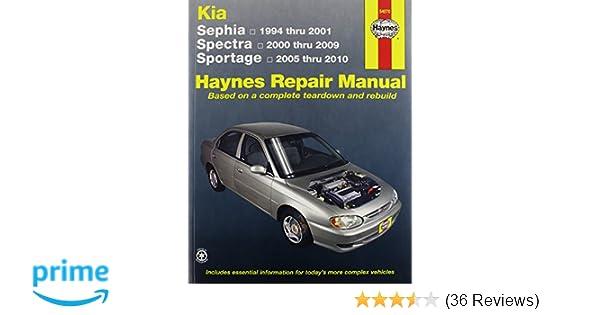 kia sephia spectra sportage automotive repair manual haynes rh amazon com 1999 Kia Sportage Blue Kia Sportage Problems