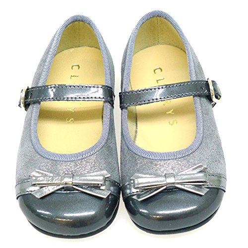 Zapatos Primeros Pasos Vestir Ceremonia Clarys 1047 Acero ACERO