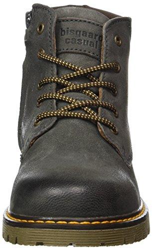 Bisgaard Unisex-Kinder Schnürstiefel Combat Boots Grau (402 Grey)
