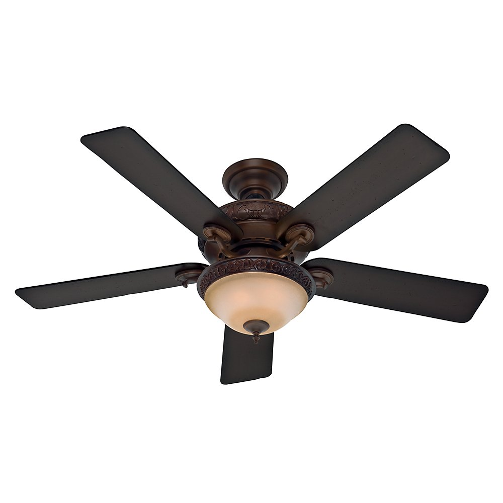 Hunter 53029 Vernazza 52 Inch Ceiling Fan With Five Aged Barnwood Rustic Lodge Blades And Light Kit Brushed Cocoa