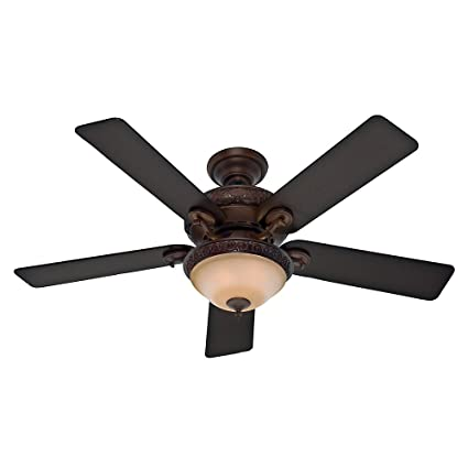 Hunter 53029 Vernazza 52 Inch Ceiling Fan With Five Aged Barnwood/Rustic  Lodge Blades