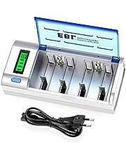 EBL 906 LCD Universele Batterijlader - voor AAA/AA/SC/C/D/9V/NiMH/NiCD oplaadbare batterijen, 6 oplaadkanalen, ontlaadlader, snellader