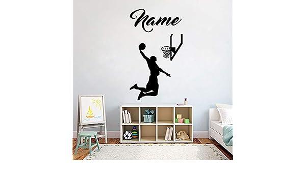 Baloncesto Nombre Personalizado Etiqueta de la Pared Reproductor ...