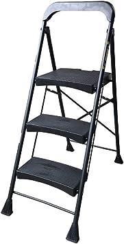 RMXMY Escalera de aluminio liviana de 3 escalones con bandeja de herramientas Taburete plegable para el hogar Escalera de escaleras para el hogar y la cocina Antideslizante Escaleras de pedales resist: Amazon.es: