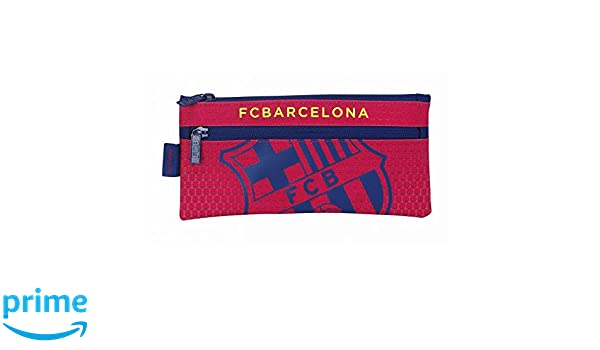 Futbol Club Barcelona- Estuche portatodo Dos Cremalleras ...
