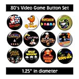 80's VIDEO GAME BUTTONS pins nintendo 1980's eighties new!