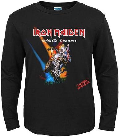 Iron Maiden - Camiseta de Manga Larga para Hombre Negro Negro ...