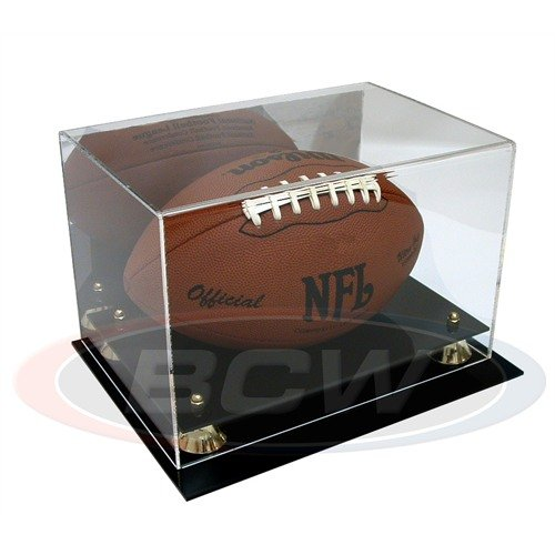 DisplayGifts PRO UV Football Display Case Stand with Mirrored Back, ACFB18M