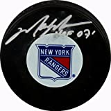 Steiner Sports NHL New York Rangers Mark Messier Rangers Autograph Puck with ''HOF'' Inscription.