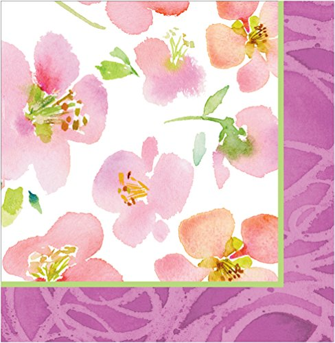 Creative Converting 18 Count Warm Flora Lunch Napkins, Pi...