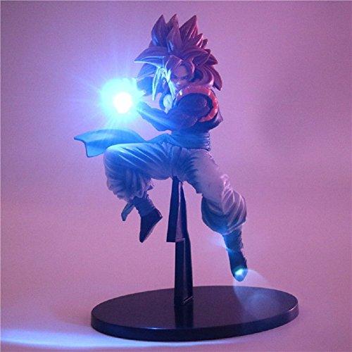 KAKALIN New Dragon Ball Z Super Saiyan Goku Vegeta Red Hair Led Light Action Figure Toy