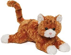 """GUND Tabby Plush Stuffed Cat, Orange/White, 14"""""""
