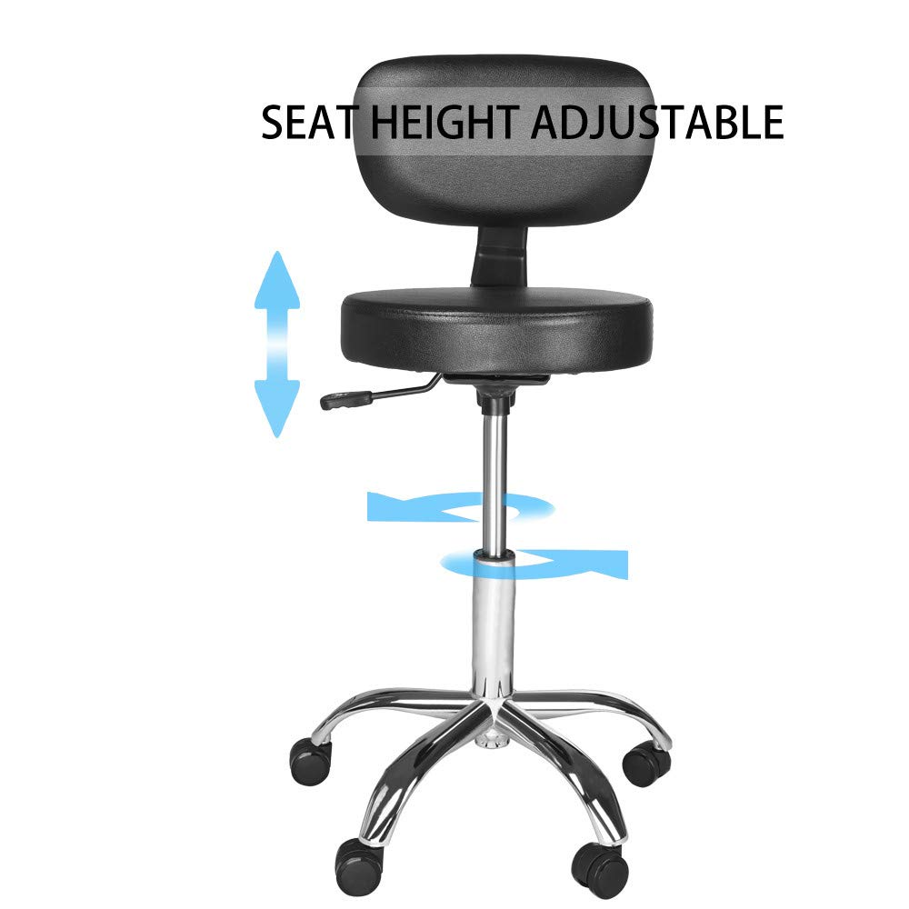 Sonmer Modern Simple Hydraulic Lift Round Office Chair, with Adjustable Backrest,360° Free Rotation,Pulley Aluminum Alloy Prong Base, Explosion-Proof Chassis by Sonmer (Image #3)