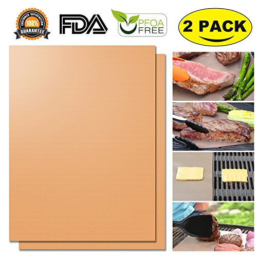 Copper Grill Mat Set of 2 - Non