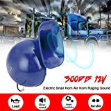 Carrfan Loud 300DB 12V Electric Snail Horn Air Horn Raging Sound for Car Motorcycle Truck Boat Crane
