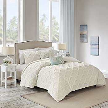 26fd4fd706 Harbor House Cannon Beach 3 Piece Cotton Chenille Duvet Cover Set White  Full/Queen