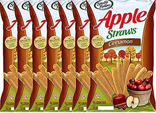 NEW Sensible Portions Apple Cinnamon StrawsGluten Free Multigrain Snack Net Wt 5oz (6) by SensiblePortions
