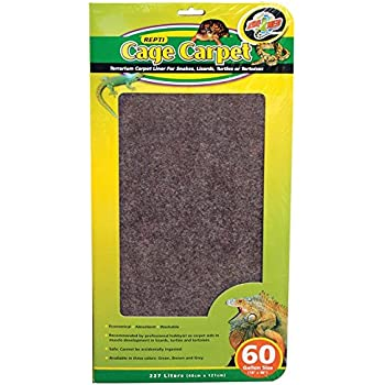 "Zoo Med 26083 Repti Cage Carpet (1 Pack), 18"" x 48"" (Assorted color)"