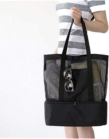 950cdd037e47b Keptfeet Large Beach Bag for Women, Zip Up Mesh Beach Bag And Outdoor  Activities Bag