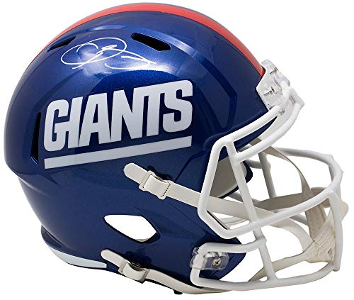 Odell Beckham Jr. Signed NY Giants Full Size Color Rush Replica Speed Helmet JSA - Autographed - Helmet Giants Autographed