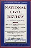 National Civic Review, No. 2, Summer 1999 9780787949105
