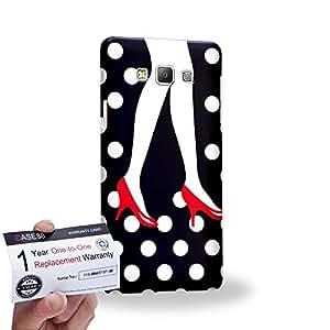 Case88 [Samsung Galaxy A7] 3D impresa Carcasa/Funda dura para & Tarjeta de garantía - Art High Heels And Dot Couple
