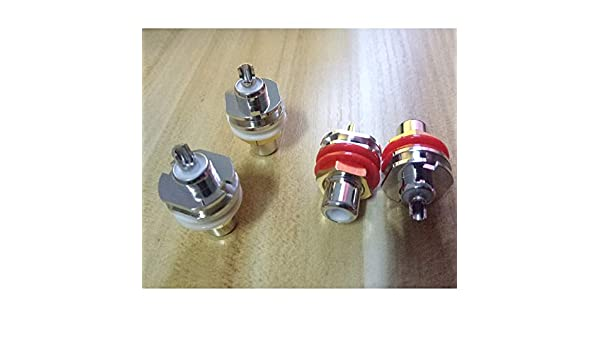 Cardas 4Pcs rhodium plated Cardas GRFA Thick RCA Female socket Connector adapter