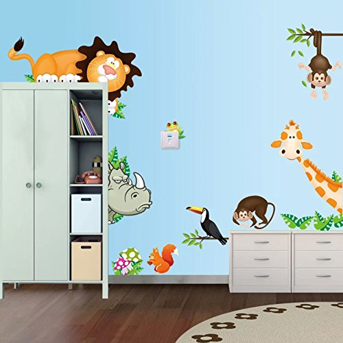 Decorstyle Giant Wall Decals for Kids Rooms, Nursery Peel &