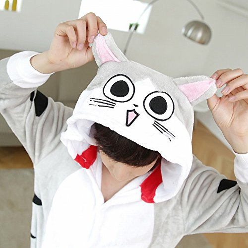 Piece s Costume Deed Peluche Inverno Di Animale Pigiami Adult Unisex Cosplay Ispessimento gatto One Usura Svago qFZwX0