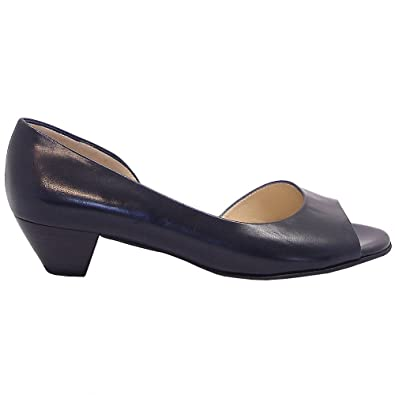 baac2a19f741 Peter Kaiser Itha low heel open toe shoes in navy NAVY 5.5  Amazon ...