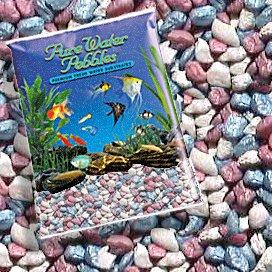 Pure Water Pebbles RAINBOW FROST AQUARIUM GRAVEL, 5-LB, Colored Fish Tank gravel ()