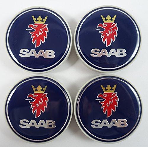 (Saab Wheel Center Caps Set of 4 12775052 12802487 Blue 2.5