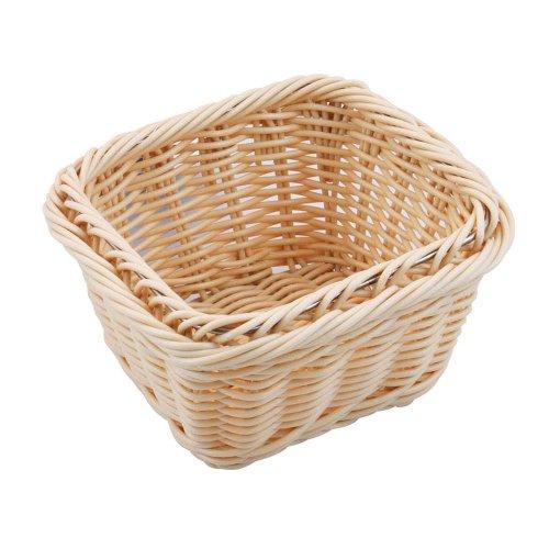 Paderno World Cuisine 7-Inch by 6-3/8-Inch Rectangular Polyrattan Bread Basket