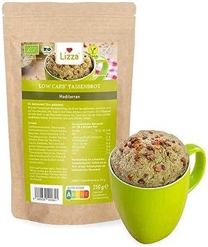 Lizza Baja en carbohidratos mediterráneos, orgánico, sin gluten, vegano, bajo en carbohidratos ricos en proteínas, ideal para tu dieta, 1 x 250 g ...