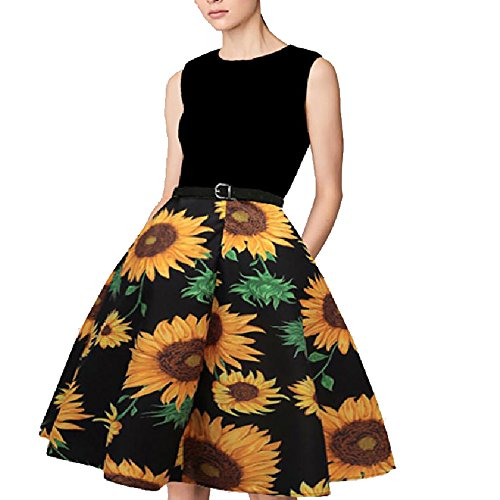 Vintage 8' Doll - YoungG-3D Women Summer Dress Casual Floral Dress Sexy Ball Gown Evening Party Dresses Female Vestidos 2 L