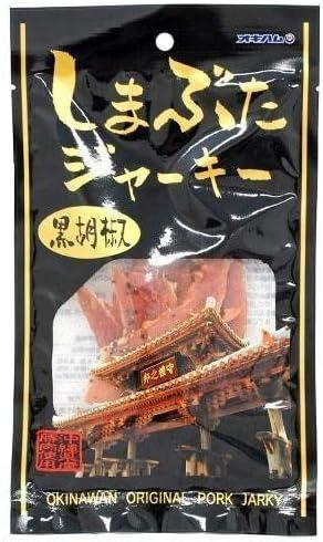 しまぶたジャーキー 黒胡椒 25g×4袋 オキハム 沖縄県産豚肉100%使用 黒コショウがきいてピリッとした旨みのある大人のジャーキー おつまみやお土産におすすめの珍味