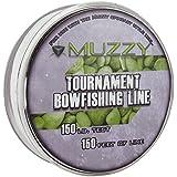 Muzzy 1076 Spool Size 150 #Tournament Bowfishing Line, 150 ft.